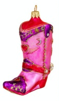 Artistry of Poland Ornament: Cowboy Boot in Pink