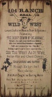 Wall Sign Vintage: 101 Ranch Real Wild West