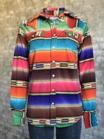 Rockmount Ranch Wear Ladies' Western Shirt: Print Warm Flannel Serape Backordered