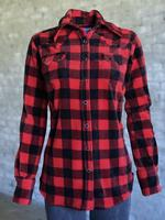 Rockmount Ranch Wear Ladies' Western Shirt: Print Warm Flannel Buffalo Check