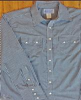Rockmount Ranch Wear Ladies' Western Shirt: Gingham Check Navy S-XL