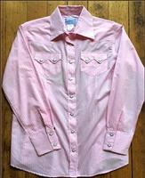 Rockmount Ranch Wear Ladies' Western Shirt: Gingham Check Pink S-XL