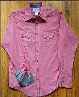 Rockmount Ranch Wear Ladies' Western Shirt: Gingham Check Red Contrast S-XL