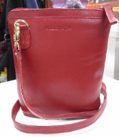 Scully Leather Handbag: Compact Traveler's Friend Red