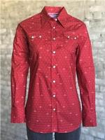 Rockmount Ranch Wear Ladies' Western Shirt: A Print Horseshoes