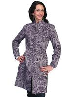 ZSold Scully Ladies' Old West Jacket: Wahmaker Frock Coat Stand Up Collar Tapestry Plum SOLD