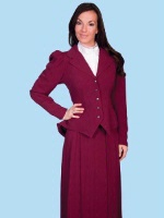 ZSold Scully Ladies' Old West Jacket: Wahmaker Classic Jacket Rayon Burgundy SOLD