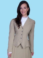 ZSold Scully Ladies' Old West Jacket: Wahmaker Classic Jacket Rayon Khaki SOLD