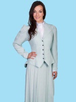 ZSold Scully Ladies' Old West Jacket: Wahmaker Classic Jacket Rayon Pale Blue SOLD