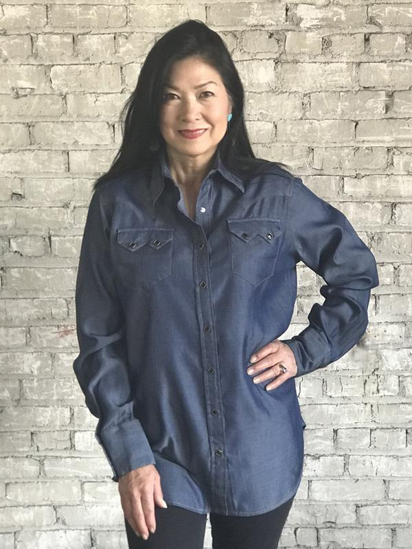 Rockmount Ranch Wear Ladies' Western Shirt: Denim Tencel