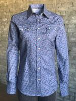 Rockmount Ranch Wear Ladies' Western Shirt:  A Print Floral Blue