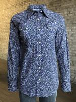 Rockmount Ranch Wear Ladies' Western Shirt: A Print Floral Navy