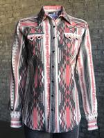 Rockmount Ranch Wear Ladies' Western Shirt: Print Flannel Jacquard  Black Backordered
