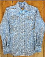 Rockmount Ranch Wear Ladies' Western Shirt: A Cotton Eyelet Chambray S-XL