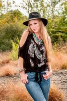 Liberty Wear Top: Cold Shoulder Falling Feathers