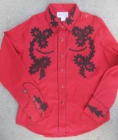 ZSold Rockmount Ranch Wear Ladies' Vintage Western Shirt: Paniolo Red SOLD