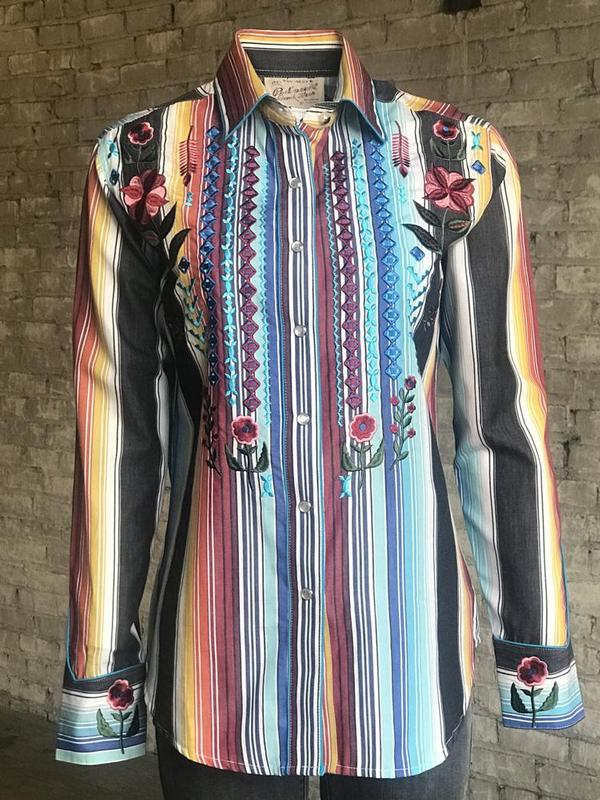 Rockmount Ranch Wear Ladies' Vintage Western Shirt: A Embroidered Serape
