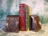ZSold Book End by Western Lamps: Good Luck Horse Shoe SOLD
