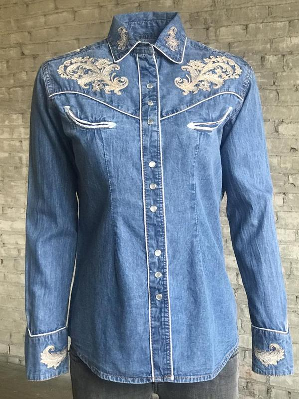 Rockmount Ranch Wear Ladies' Vintage Western Shirt: A Fancy Denim