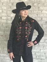 Rockmount Ranch Wear Ladies' Vintage Western Shirt: A Fancy Thistle Black