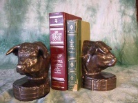ZSold Book End by Western Lamps: Bull Bust SOLD
