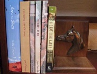 ZSold Book End by Western Lamps: Horse Profile SOLD