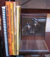 ZSold Book End by Western Lamps: Mare and Foal SOLD