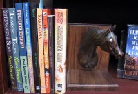 ZSold Book End by Western Lamps: Horse Head SOLD