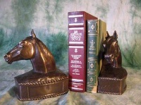 ZSold Book End by Western Lamps: Horse Bust SOLD