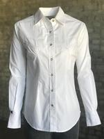 Rockmount Ranch Wear Ladies' Western Shirt: Cotton Poplin White Backordered