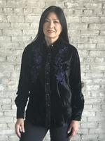 Rockmount Ranch Wear Ladies' Vintage Western Shirt: A Velvet Black