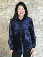 Rockmount Ranch Wear Ladies' Vintage Western Shirt: A Velvet Blue