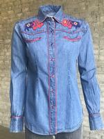 Rockmount Ranch Wear Ladies' Vintage Western Shirt: A Fancy Denim Bison Backordered