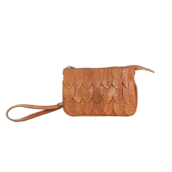 A American West Handbag Freedom Feather Collection: Leather Event Bag Natural Tan