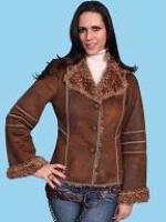 Scully Ladies' Honey Creek Faux Fur Jacket: Antique Brown SALE