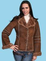 Z SALE Scully Ladies' Honey Creek Faux Fur Jacket: Antique Brown S-XL SALE