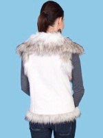 Scully Ladies' Honey Creek Faux Fur Vest: Faux Shearling Off White