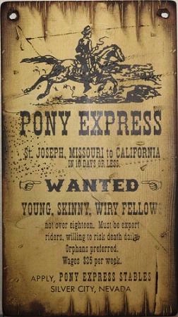 Wall Sign Vintage Pony Express