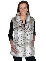 Scully Ladies' Honey Creek Faux Fur Vest: Reversibile Faux Fur Leopard S-XL