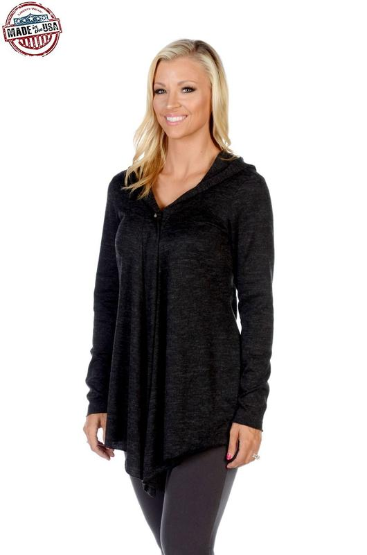 Liberty Wear Cardigan: Riding Hood Black