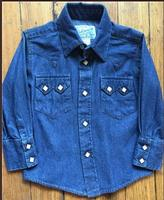 A Rockmount Ranch Wear Children's Western Shirt: Denim Stonewashed Backordered