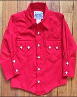A Rockmount Ranch Wear Children's Western Shirt: Solid Red 0-16