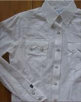 A Rockmount Ranch Wear Children's Western Shirt: Eyelet White XS-XL