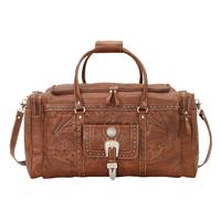 American West Handbag ZZ Travel Collection: Retro Luggage Rodeo Bag Light Brown
