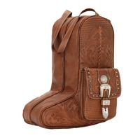 American West Handbag ZZ Travel Collection: Retro Luggage Boot Bag Light Brown