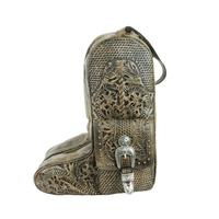 American West Handbag ZZ Travel Collection: Retro Boot Bag Distressed Charcoal