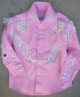 Rockmount Ranch Wear Children's Vintage Western Shirt: Fringe Pink
