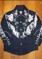 Rockmount Ranch Wear Children's Vintage Western Shirt: Fringe Black Backordered