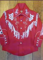 Rockmount Ranch Wear Children's Vintage Western Shirt: Fringe Red Backordered