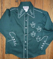 Rockmount Ranch Wear Children's Vintage Western Shirt: Classic Style with Dinosaur  Green M-XL